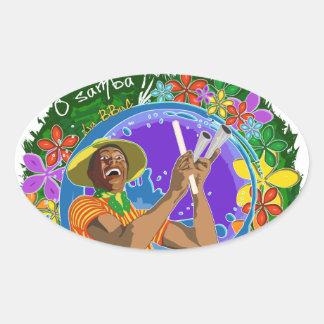 Batuc Agogo - Batucada Samba BBaC Oval Sticker