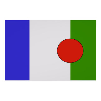 Batwa People, ethnic flag Poster
