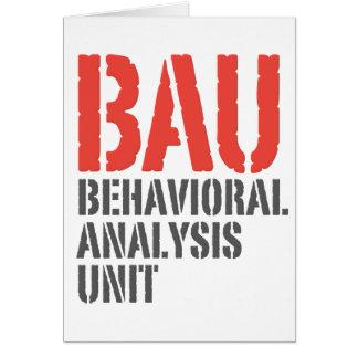 BAU Behavioral Analysis Units Card