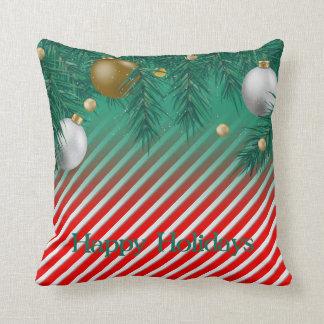 Bauble Candy Cane Cushion