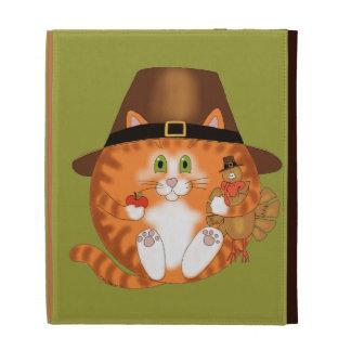 Bauble Cat Thanksgiving iPad Folio Case