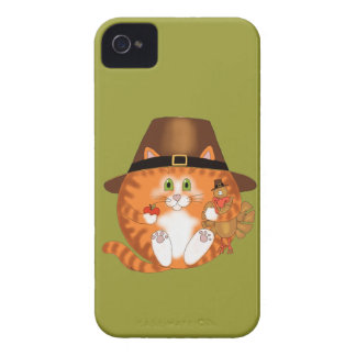 Bauble Cat Thanksgiving iPhone 4 Case-Mate Case
