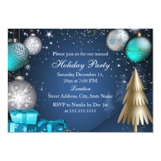 Bauble Corporate Work Office Christmas Party 13 Cm X 18 Cm Invitation Card