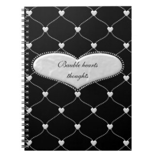 bauble hearts - save the date cards and more note books
