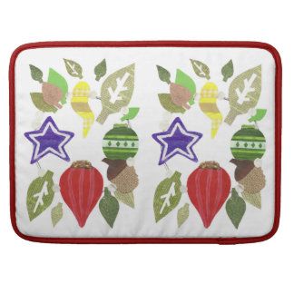 Bauble Wreath 15 Inches Macbook Sleeve