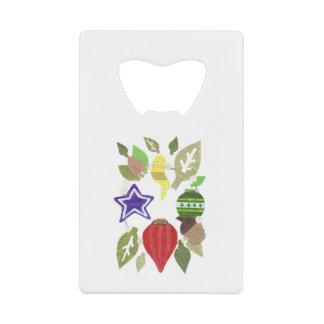 Bauble Wreath Credit Card Bottle Opener