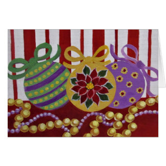 Baubles and Beads, Christmas Card