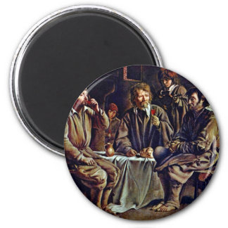 Bauer Meal By Le Nain Louis (Best Quality) 6 Cm Round Magnet