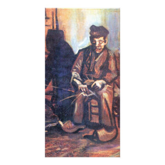 Bauer, sitting in and making basket by van Gogh Photo Card