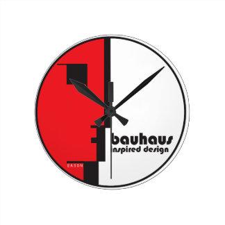 "BAUHAUS Classic Circle ""Lineface"" Profile Icon Wall Clock"
