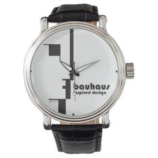 BAUHAUS Inspired Design Classic Line-Face Watch