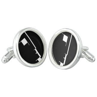 Bauhaus logo cufflinks