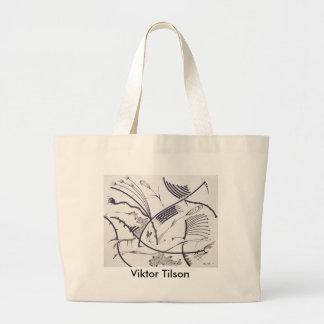 """""""Bauhaus One"""" design by Viktor Tilson Jumbo Tote Bag"""