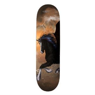 Bautiful dark unicorn skate decks