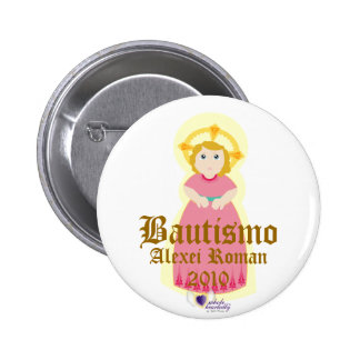 """""""Bautismo"""" Button- Customize 6 Cm Round Badge"""