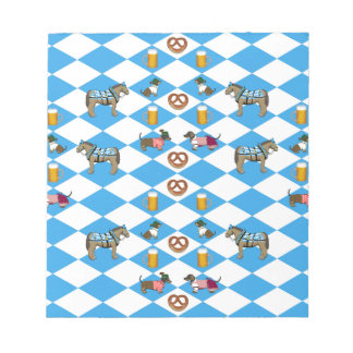 Bavaria beer Breze dachshund horse Notepad