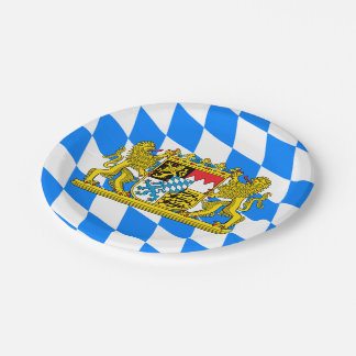 Bavaria Coat of arms 7 Inch Paper Plate