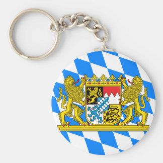 Bavaria Coat of arms Basic Round Button Key Ring