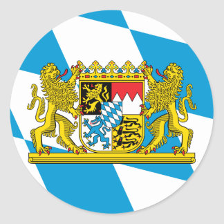 Bavaria Flag Classic Round Sticker