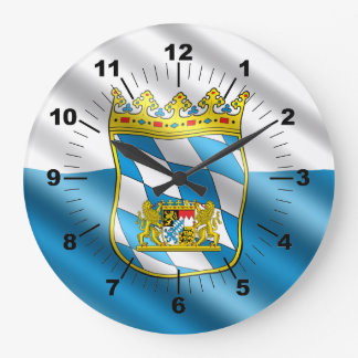 Bavaria flag large clock