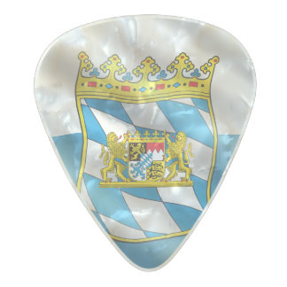 Bavaria flag pearl celluloid guitar pick