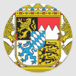 Bavaria (Germany) Coat of Arms Round Stickers