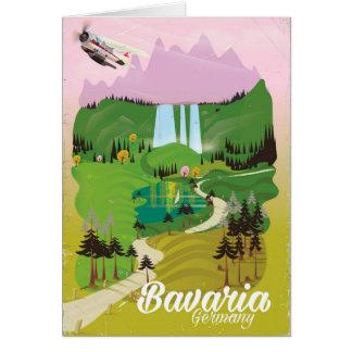 Bavaria Germany landscape travel print Card