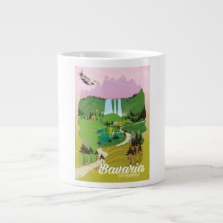 Bavaria Germany landscape travel print Large Coffee Mug