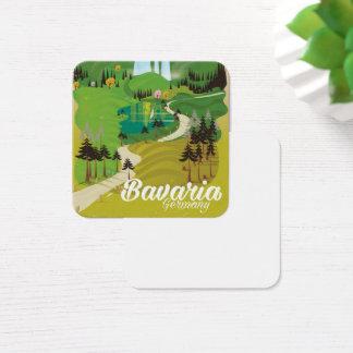 Bavaria Germany landscape travel print Square Business Card