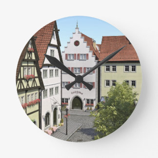 Bavaria Town From Above Round Clock