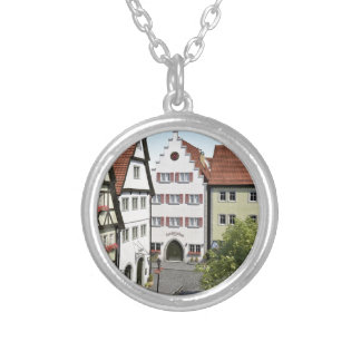 Bavaria Town From Above Silver Plated Necklace