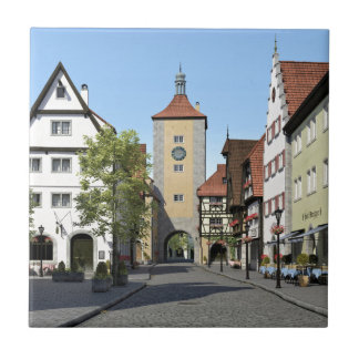 Bavaria Town Main Street Ceramic Tile