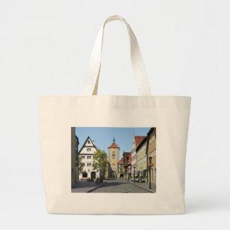 Bavaria Town Main Street Large Tote Bag