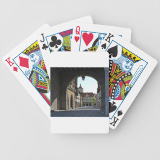 Bavaria Town Through an Arch Bicycle Playing Cards
