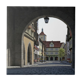 Bavaria Town Through an Arch Ceramic Tile