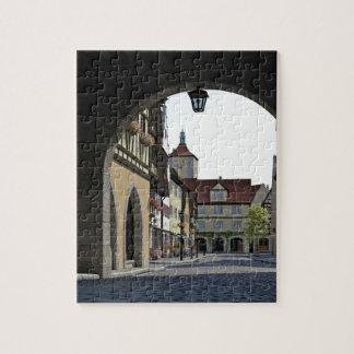 Bavaria Town Through an Arch Jigsaw Puzzle