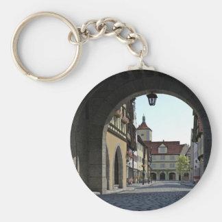 Bavaria Town Through an Arch Key Ring
