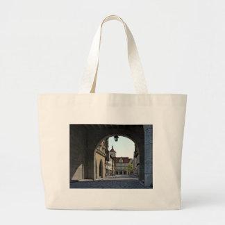 Bavaria Town Through an Arch Large Tote Bag
