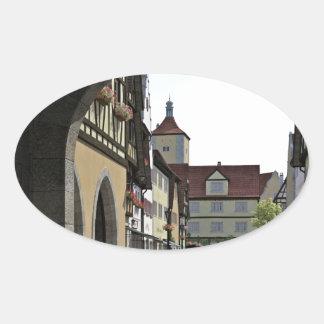 Bavaria Town Through an Arch Oval Sticker