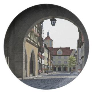 Bavaria Town Through an Arch Plate
