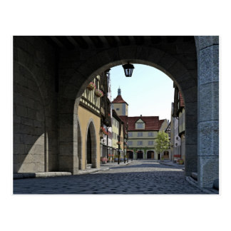 Bavaria Town Through an Arch Postcard