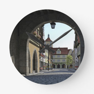 Bavaria Town Through an Arch Round Clock