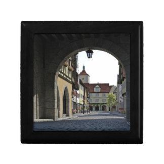 Bavaria Town Through an Arch Small Square Gift Box
