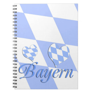 Bavaria with hearts notebook