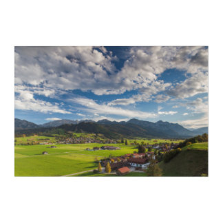 Bavarian Alpine Landscape Acrylic Wall Art