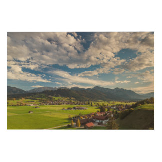 Bavarian Alpine Landscape Wood Wall Decor