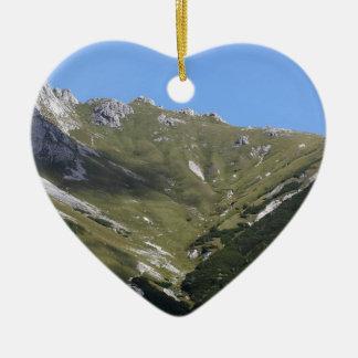 Bavarian Alps near Berchtesgaden Ceramic Heart Decoration