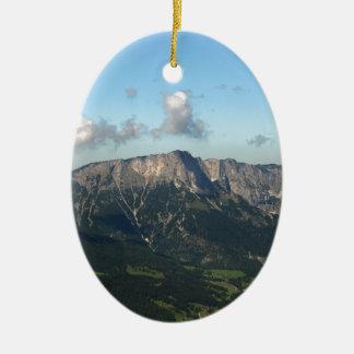 Bavarian Alps near Berchtesgaden Ceramic Oval Decoration