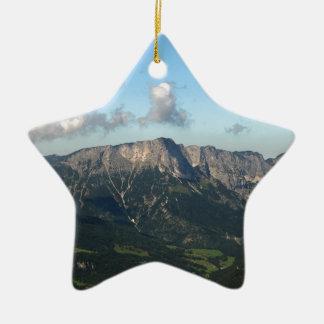 Bavarian Alps near Berchtesgaden Ceramic Star Decoration