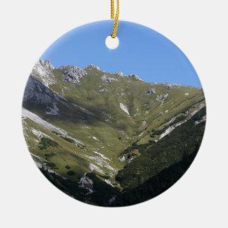Bavarian Alps near Berchtesgaden Round Ceramic Decoration